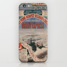 Vintage poster - Orient Express iPhone Case