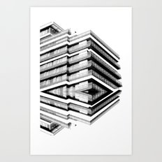 Hotel Merriot Budapest. Deconstruction Art Print