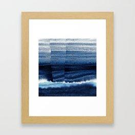 Blue Escape Watercolor Framed Art Print