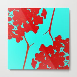 hydrangea shape Metal Print