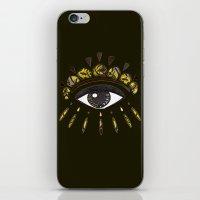 kenzo iPhone & iPod Skins featuring Kenzo eye yellow by cvrcak