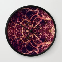 Burning Roots VII Wall Clock