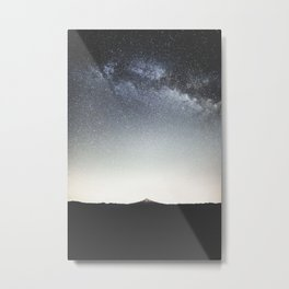 Mountain Under Milky Way Metal Print