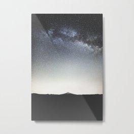 Mountain Under Milky Way Metal Print