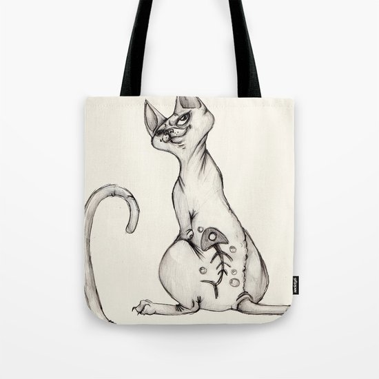 Cats with Tats v.1 Tote Bag