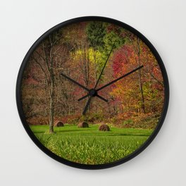 Lonely Bails of Color Wall Clock