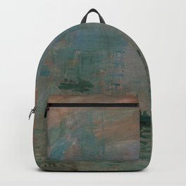 Claude Monet - Impression, Sunrise Backpack