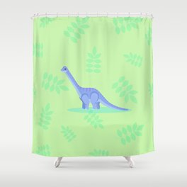 Brontosaurus, There When You Can't Reach the Shelf Above the Fridge Shower Curtain