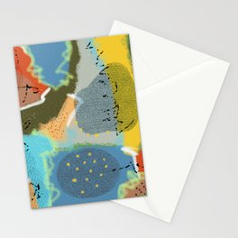 Digital Abstract Painting 2 Stationery Cards