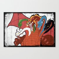 dungeons and dragons Canvas Prints featuring DUNGEONS & DRAGONS - TIAMAT by Zorio