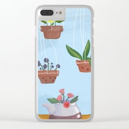 Flower pot power {Spring} Clear iPhone Case