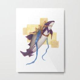 Celestial Dolphin: Presence Metal Print