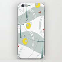 ski iPhone & iPod Skins featuring Retro Ski by Julie's Fabrics & Thingummies