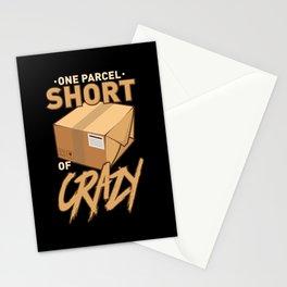 Postal Worker: One Parcel Short Of Crazy Stationery Cards