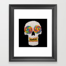 Skullipop Framed Art Print