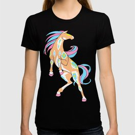 Rearing Rodeo - A Native Horse Equine Illustration  T-shirt