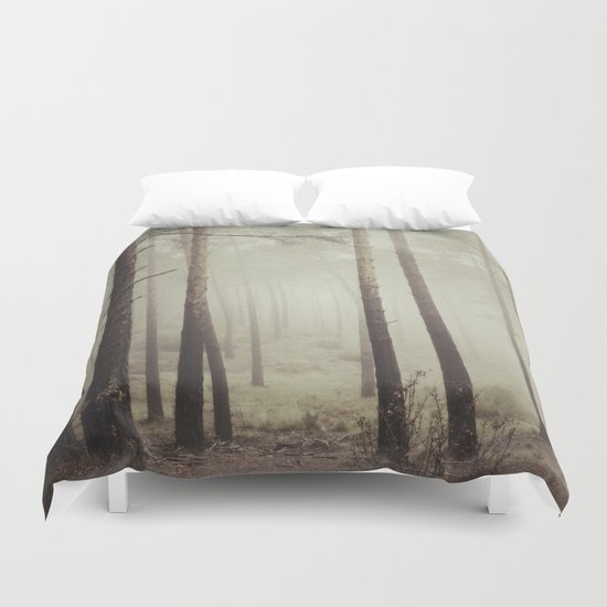 """Into the woods"". Follow your dreams.... Duvet Cover"