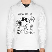 """snoopy Hoodies featuring Snoopy """"Chicks Dig Me"""" by Blue Orchid Photography"""
