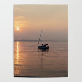 Anchored Off Shore Poster