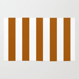 Windsor tan brown - solid color - white vertical lines pattern Rug