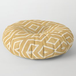 Stitch Diamond Tribal in Gold Floor Pillow