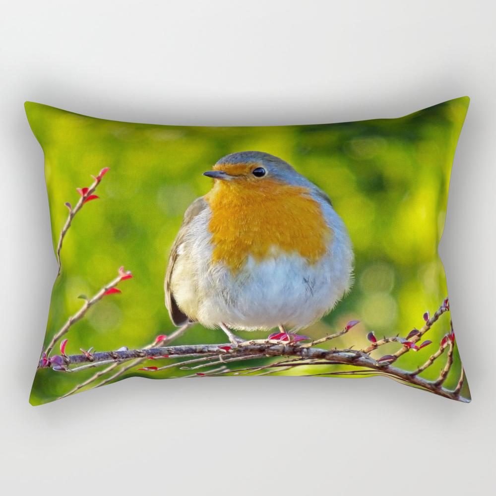 Robin Redbreast Rectangular Pillow (RPW8331014) photo