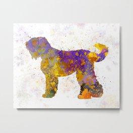Russian Black Terrier in watercolor Metal Print