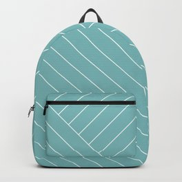 Abstract geometric lines soft turquoise Backpack