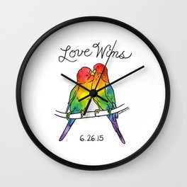 #LoveWins Birds Wall Clock