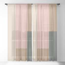 Contemporary Composition 24 Sheer Curtain
