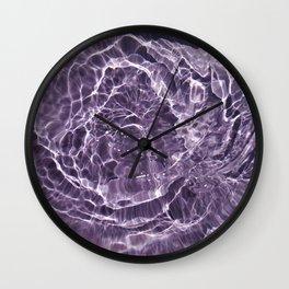 Lilac Bubbles Wall Clock