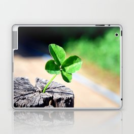 Four leaf clover for good luck Laptop & iPad Skin
