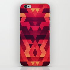 Abstract  geometric triangle texture pattern design in diabolic future red iPhone & iPod Skin