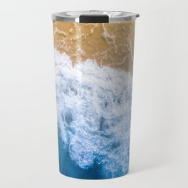 Ocean blue sand brown Travel Mug