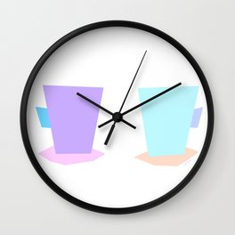 Have Some Coffee And Talk About Love no.6 - pastel color illustration Wall Clock