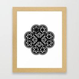4 OF HEARTS Framed Art Print
