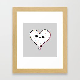 ice heart no bottom Framed Art Print