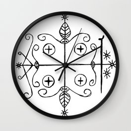 Papa Legba Voodoo Veve Wall Clock