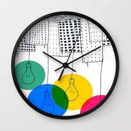 Color Bulbs Wall Clock