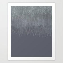Glitter to Graige Ombre Art Print