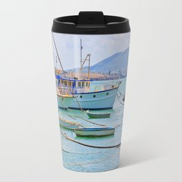 Boats on the river Travel Mug
