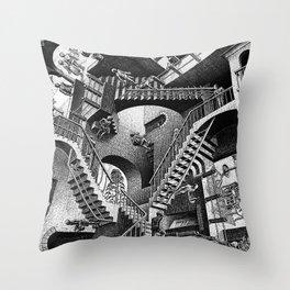 M.C. Escher - Relativity Throw Pillow