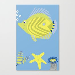 Swimming fish Canvas Print