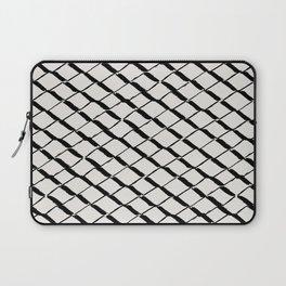 Modern Diamond Lattice 2 Black on Light Gray Laptop Sleeve