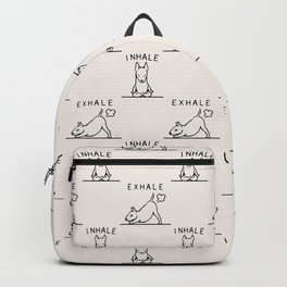 Inhale Exhale  Bull Terrier Backpack