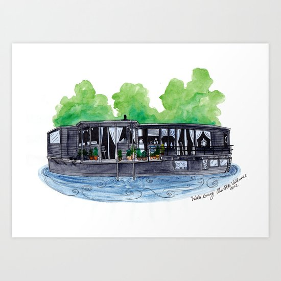 Water Living in Amsterdam by Charlotte Vallance Art Print
