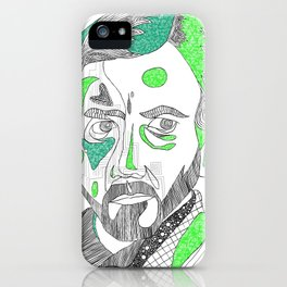 obi wan kenobi - abstract iPhone Case