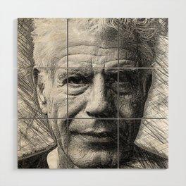 Anthony Bourdain Wood Wall Art