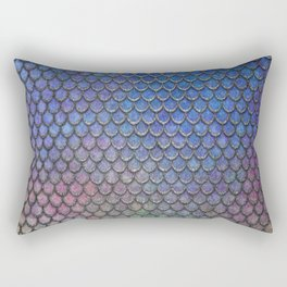Colorful Silver II Mermaid Scales Rectangular Pillow
