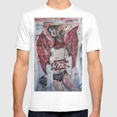 SEXY MANANANGGAL White SMALL Mens Fitted Tee